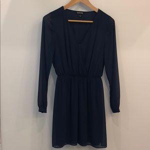Express Navy Blue long sleeve dress